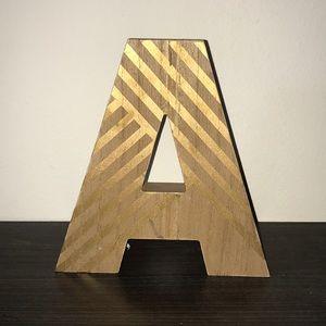 Letter A decoration